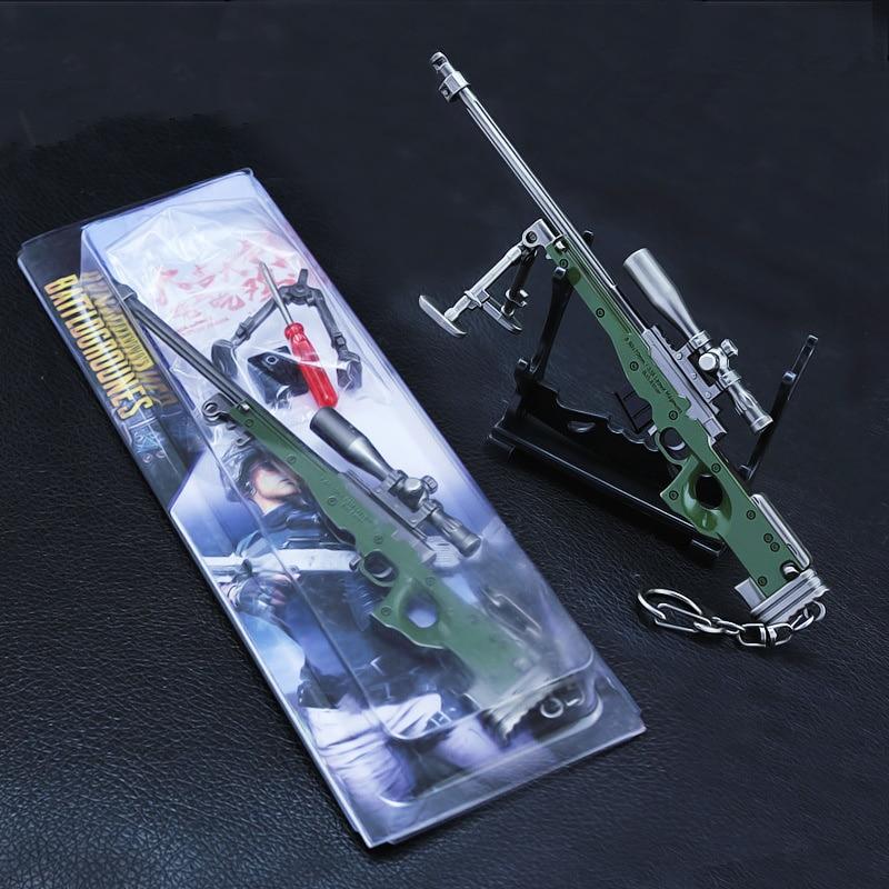 Wwii 17.5 Cm Weapon Model 1/6 Scale Rifle Sniper Gun Model Toys Pubg Awm Gun Alloy Model Men Game Key Chain Keychain Gift Dependable new