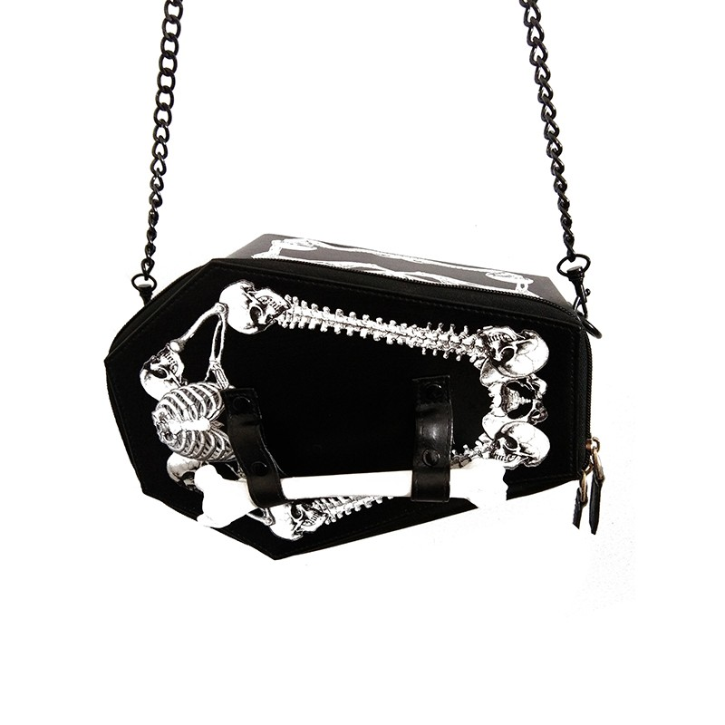 Steampunk gothic vampire bone coffin bag skull skeleton women's chain crossbody box bags rpo6 tote bat harajuku cosplay handbag