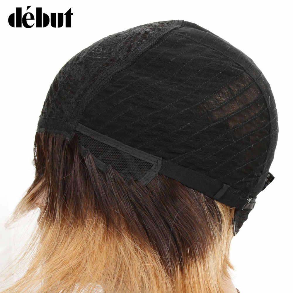 Дебютные Омбре человеческие волосы парики бразильский короткий боб парики человеческие волосы TT2/27 дешевые Реми Короткие парики из человеческих волос для черных женщин