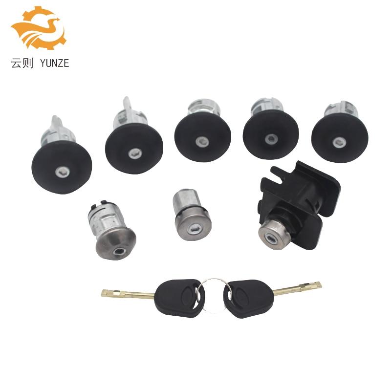 YC15V22050YG 4119503 ensemble de verrouillage complet interrupteur d'allumage gauche droite serrure de porte serrure de coffre pour FORD TRANSIT MK6 2000-2006 8 pièces