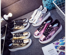 spring/summer Casual Shoes Woman glossy flat Shoes Woman Fashion Shoes Flat Platform Student Shoes
