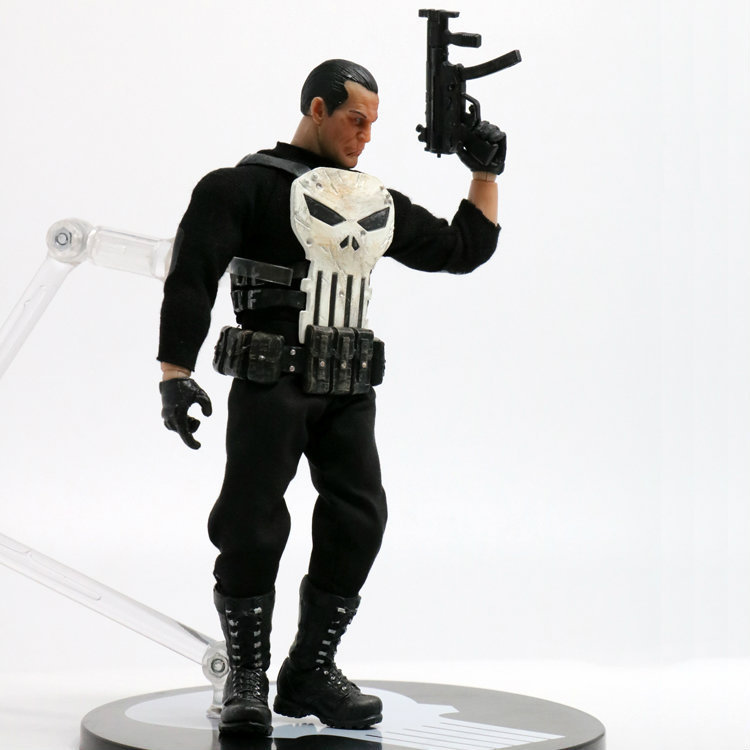 XINDUPLAN Marvel Shield Avengers The Punisher Mezco Frank Castle ONE:12 Action Figure Toys 15cm PVC Collection Model 1057 xinduplan marvel shield iron man avengers age of ultron mk45 limited edition human face movable action figure 30cm model 0778