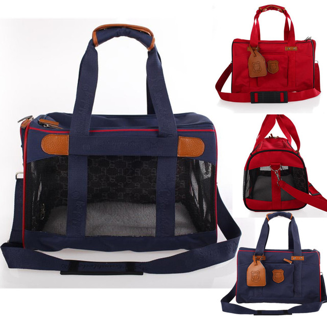 Denim Dog Bags For Small Dogs Pet Carrier Cat Slings Handbags Shoulder Mesh Breathable Soft