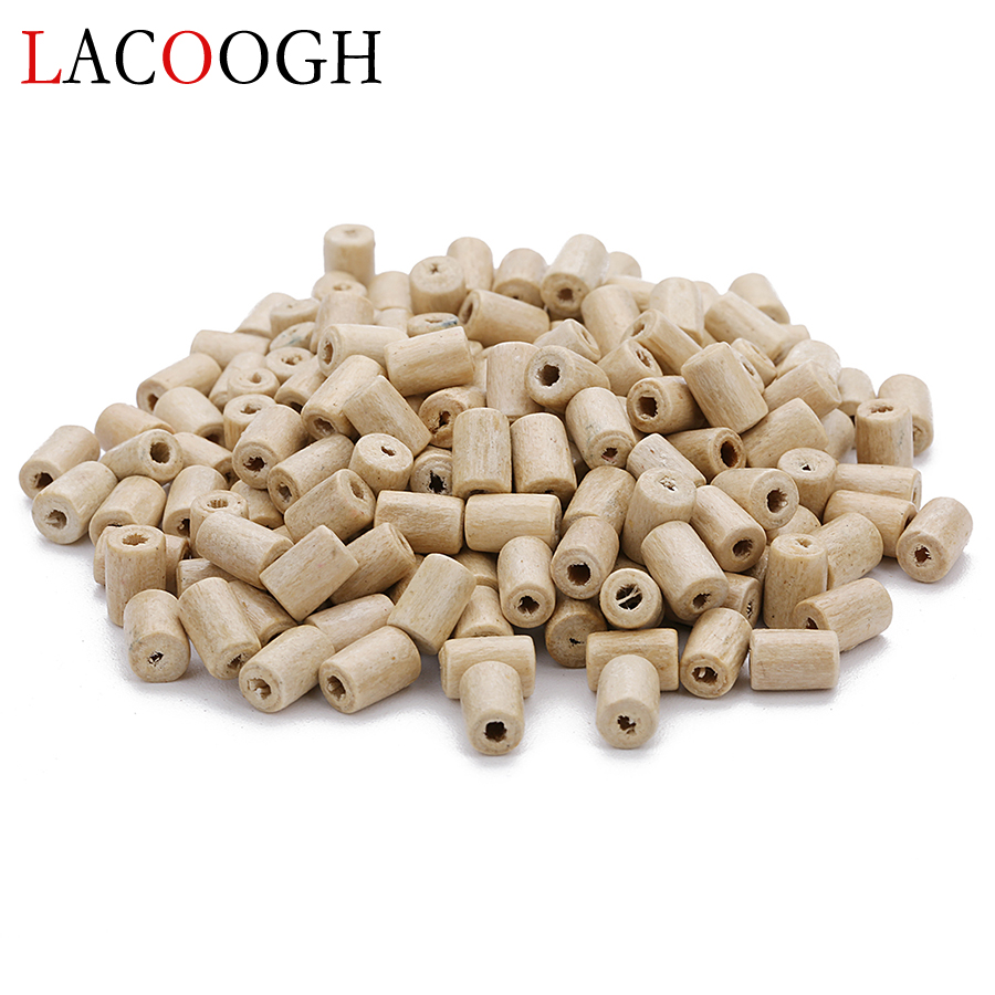 Us 3 05 10 Off Whole 300pcs Lot 2mm Hole Wood Beads Loose Er Cylindrical Wooden For Diy Bracelets Jewelry Making Findings In