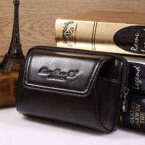 Image 3 - Smartphone pochette de ceinture en cuir véritable étui Vintage pour Iphone 6 6s 7 Plus 5s 4 pochette de ceinture sac à main sac de taille pour 4.5 ~ 6.0 téléphones