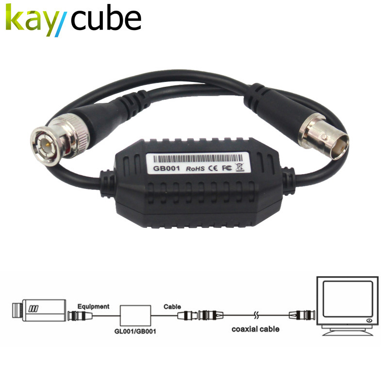 5pcs/lot Ground Loop Isolator Video Balun /Coaxial for Video CCTV BNC Coaxial Video Anti-jamming Equipment Cable Isolator все цены