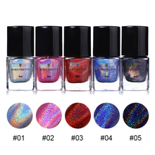 BORN PRETTY 6ml Holographic Stamping Polish Colorful Nail Art Plate Printing Polish Lacquer Manicure Nail Polish Tool(China)