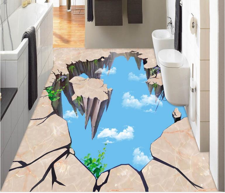 ФОТО 3d floor tiles custom pvc self adhesive wallpaper marble wallpaper for living room 3d floor self adhesive wallpaper