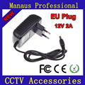 High Quality 12V 2A AC 100V-240V Converter Adapter DC 12V 2A 2000mA Power Supply EU Plug 5.5mm * 2.1mm for Surveillance Cameras