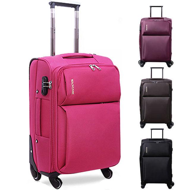 Cotton lun suitcase luggage women & men's travel bags trolley bag ...