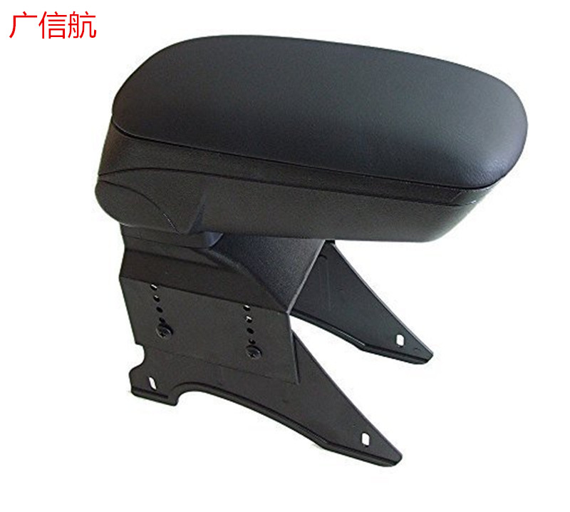 ABS+leather Handrails, decorative Phgiveu Blk Big Storage Armrest Box Center Console Universal Fit mazda 2