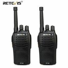 Пара RETEVIS RT46 рация 2 Вт портативный двухсторонний радио трансивер VOX Micro-usb Зарядка Поддержка Li-Ion (или AA) батарея