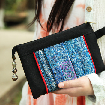 Special Bags Embroidery Clutch Bag Canvas Women bags Pure Handmade Embroidery Bags
