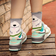 free shipping 300PCS/LOT 3D Animals Style Striped Women Lady Socks Dogs Number Stereoscopic Cotton Hosiery Socks New