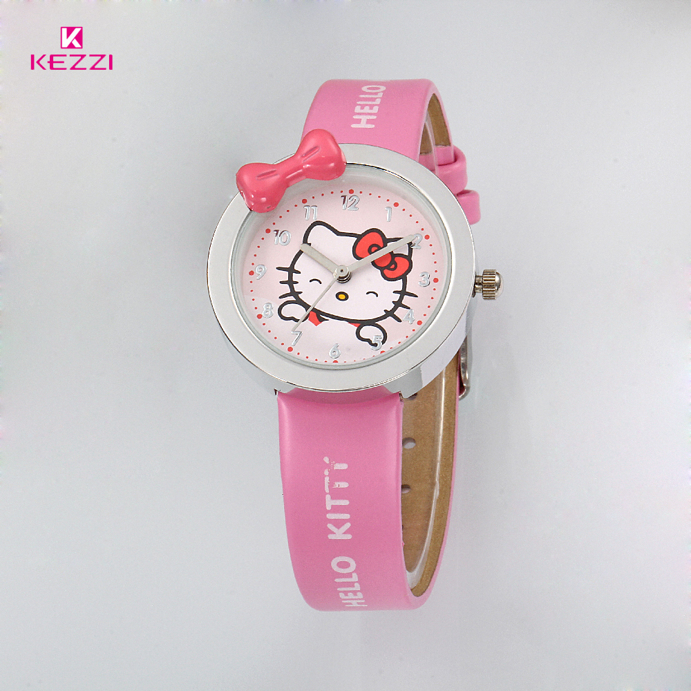 KEZZI Kids Watches Leather Strap Watch For Girl Student Casual Quartz Watch Children Lovely Cat Cartoon Watch montre enfant new cartoon children watch girl watches fashion boy kids student cute leather sports analog wrist watches relojes k519
