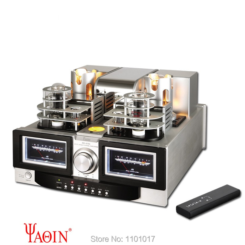 YAQIN MS-650L Best 845 Tube Amplifier HIFI EXQUIS 3 Modes Signle-Ended 2A3 845 Lamp Amp with Remote appj pa1601a 6p14 el84 tube amplifier wifi bluetooth usb sd multi receiver decoder lamp amp hifi exquis