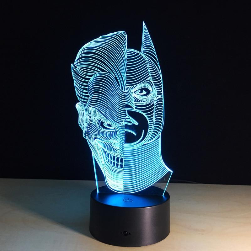 باتمان الشكل وجهين 3D الصمام ليلة - أضواء الليل