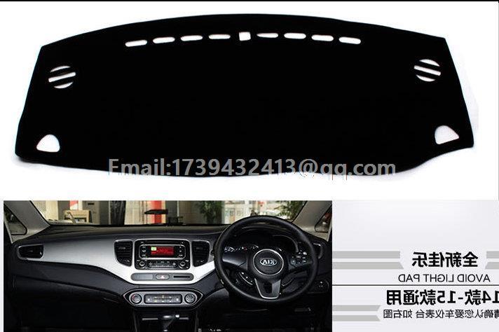 For Kia Carens Rondo 2013 2014 2015 2016 2017 2018 Dashmats Car styling Accessories Dashboard Cover RHD