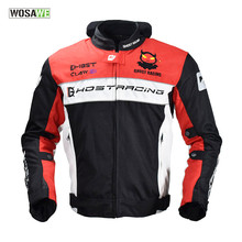 GHOST RACING Motorcycle waterproof windproof protective racing jacket with 5 Armor thermal vest motorcycle MTB riding jacket