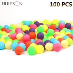 100 шт./упак. Цветной пинг-понга 40 мм 2,4 г развлечения, настольный теннис шариками разноцветные для игры и рекламы