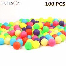 цена на 100pcs/pack Colored Ping Pong Balls 40mm 2.4g Entertainment Table Tennis Balls Mixed Colors for Game and Advertising