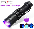 CREE LED 365nm UV Flashlight SK68 Purple Violet Light UV 395nm Lamp free shipping