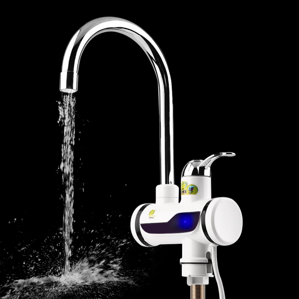 ABS LED Digital Display Faucet Instant Heating Electric Water Heater Tap High Temperature Resistant Faucet Deck Mounted FaucetABS LED Digital Display Faucet Instant Heating Electric Water Heater Tap High Temperature Resistant Faucet Deck Mounted Faucet