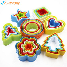 Joyathome 5-6pcs/Set 3D Colorful Plastic Biscuit Mold Cookie Baking Mould Set  Press Cutter Lot
