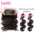 360 Lace Frontal With Bundles Brazilian Virgin Hair Body Wave Brazilian Virgin Hair With Closure Human Hair Bundles With Closure
