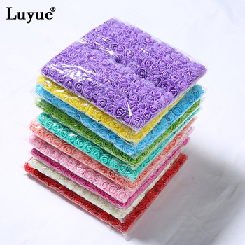 Luyue 144 PCS Artificial Foam Rose Multicolor PE Flowers Head DIY Parts Hair Band Ornaments wreath Wedding Simulation Garland