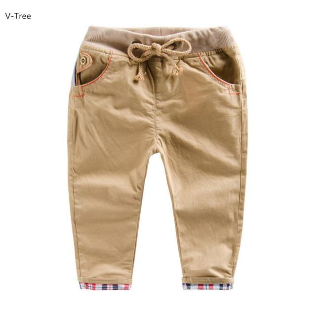 Meninos & Meninas de Calças de Algodão Com Âncora Crianças Casuais Calças Cintura Elástica Roupas Para A Primavera Outono Inverno Bebê Crianças Suave