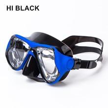 2018 Kiváló minőségű szilikon Maszkok maszk szemüveggel Myopia búvár maszk receptlen lencse Professzionális edzett üveg Scuba Mask