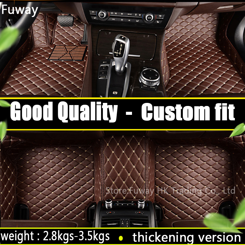 Custom car floor mats forcar floor mat leather fit for fiat 500 2011-2012 left wheel driving car accessories auto styling interior leather custom car styling auto floor mats