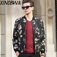 England Style Mens Spring Autumn High Fashion Stand Collar Bomber Short Camouflage Jackets Coats Man Casual Oversize 4XL Outwear