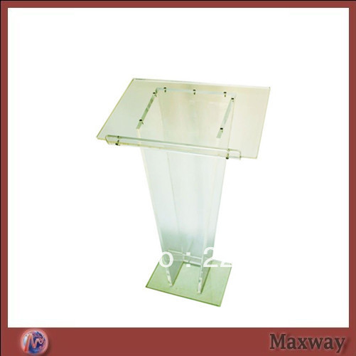 Popular Transparent Knockdown Acrylic Lectern For School Plexiglass