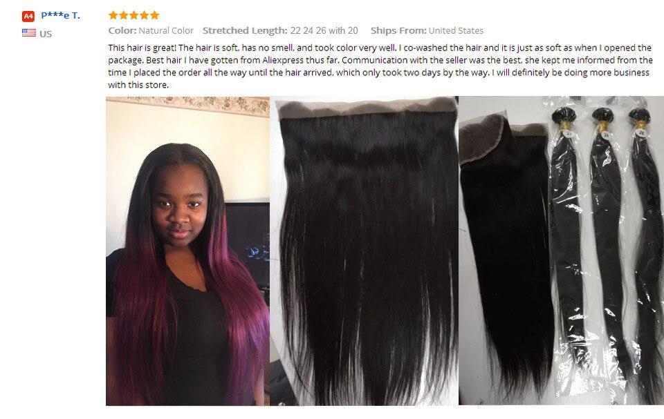 _05  Ishow Hair Ear To Ear Lace Frontal Closure With Bundles Brazilian Straight Human Hair three Bundles With Closure Non Remy four Pcs/lot HTB1v3nEaGAoBKNjSZSyq6yHAVXaQ