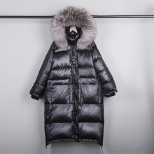 Real Natural Fur 2020 New Winter Jacket Women Loose Duck Down