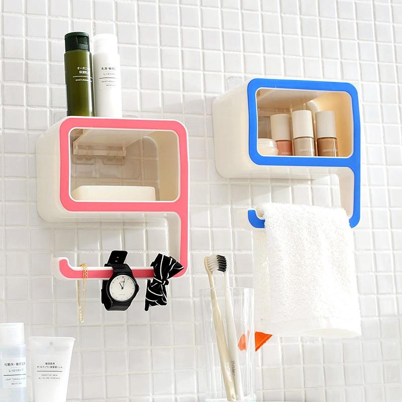 New Arrival Sucker Corner Shelf Bathroom Kitchen ABS+PVC Storage ...