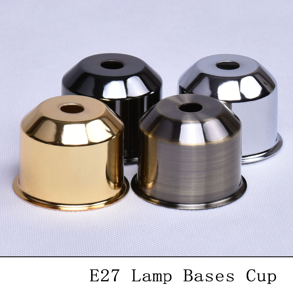 Table lamp socket - Vintage E27 Lamp Socket Cup Bronzed Black Silver Gold Table Lamp Holder Covers