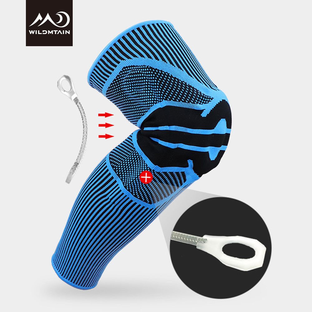 WILDMTAIN Knee Protector Upgraded Elastic Knee Support Brace Rodillera For Running, Basketball, Volleyball, Football Knee Pads