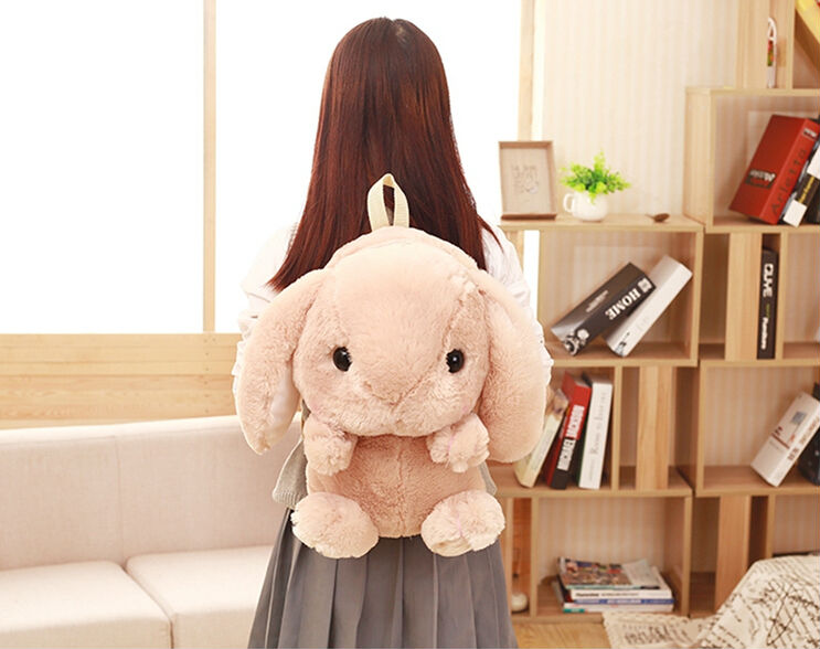 Japanese And Korean Soft Sister Style The Loppy Eared Rabbit Backpack Fashion Design Cute Big Plush