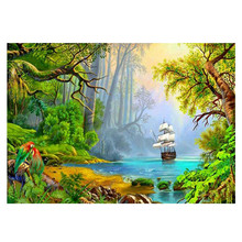 Diamond Paintings Scenic Diy 5D Embroidered Full Round/Square Cross Stitch Wall Decoration Gifts.