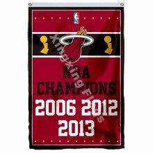 Miami Heat campeones del mundo bandera 3ft X 5ft poliéster NBA1 volando  tamaño n° 4 90 150 cm personalizado bandera bcf2891a611
