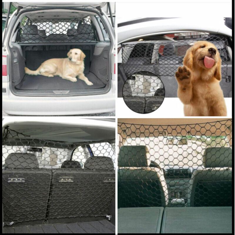USA Car Pet Barrier Vehicle Dog Fence Cage Gate Safety Mesh Net Auto Travel Van