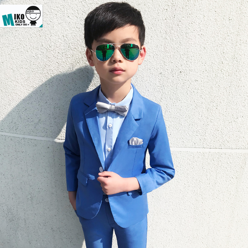 Solid Blue Baby Suits Slim And Gentle Child Costume Blazer Pant 2parts  Wedding Flower Boy Dress Quality School Kids Prom Suits-in Clothing Sets  from Mother ... eafef7114