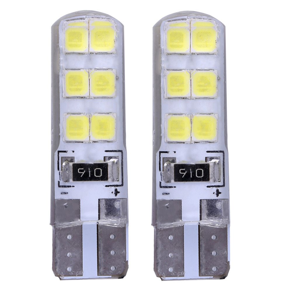 1PC T10 W5W 5050 smd 12 led Red Fog Light CANBUS No Warning Error Led Car Interior Bulb Waterproof Car Crystal Lamp Yellow White flytop t10 5smd led canbus 5050 smd w5w 194 error free car light auto bulb white red blue yellow color can bus automotive lamp