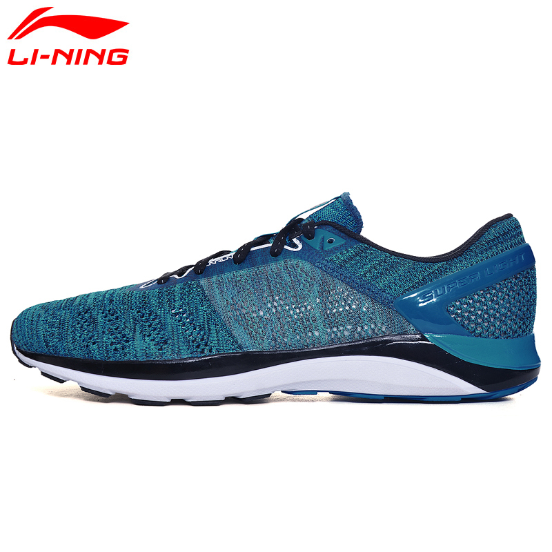 Li-Ning Super Light Running Shoes for Men Cushioning Sneakers Air Mesh Breathable LiNing Man's Sport Shoes ARBM019 Z059OLA цена