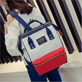 A ring backpack canvas school printing ring bag backpack women's vintage brandmale women backpack youth bag