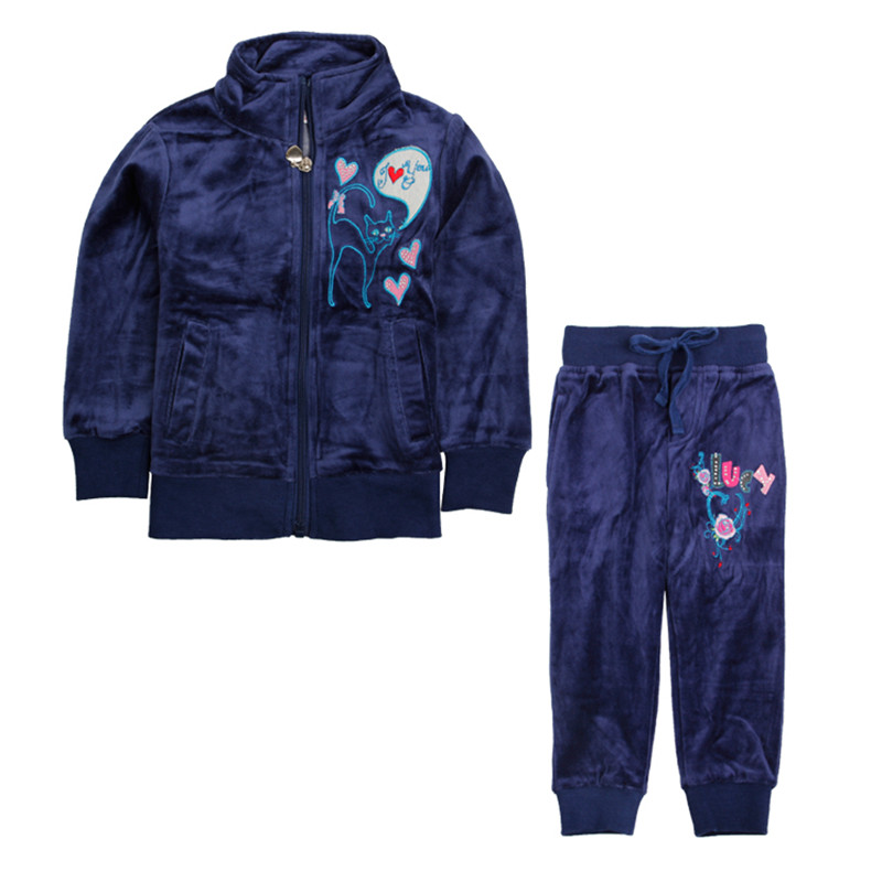 Nova girls clothing sets kids girls clothing sets jacket pants winter cotton floral children Mla winter style fashion set