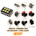 Car-Styling Super Bright 2835 15 SMD LED Canbus Error Free Lamp H1 H3 H4 H6 H7 H8 H9 H11 9005 9006 Bulb Headlight Fog Light